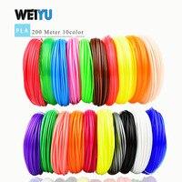 3D Ручка накаливания PLA/ABS нити многоцветные 100 м/200 м пластиковые катушки нити 1,75 мм DIY 3D принтер impressora 3D filamento