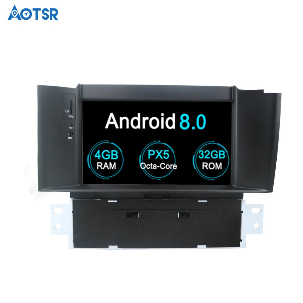 Aotsr Android 8.1 GPS navigation Car DVD Player For Citroen C4 C4L DS4 2012 2016 multimedia 2 din radio recorder 4GB+32GB