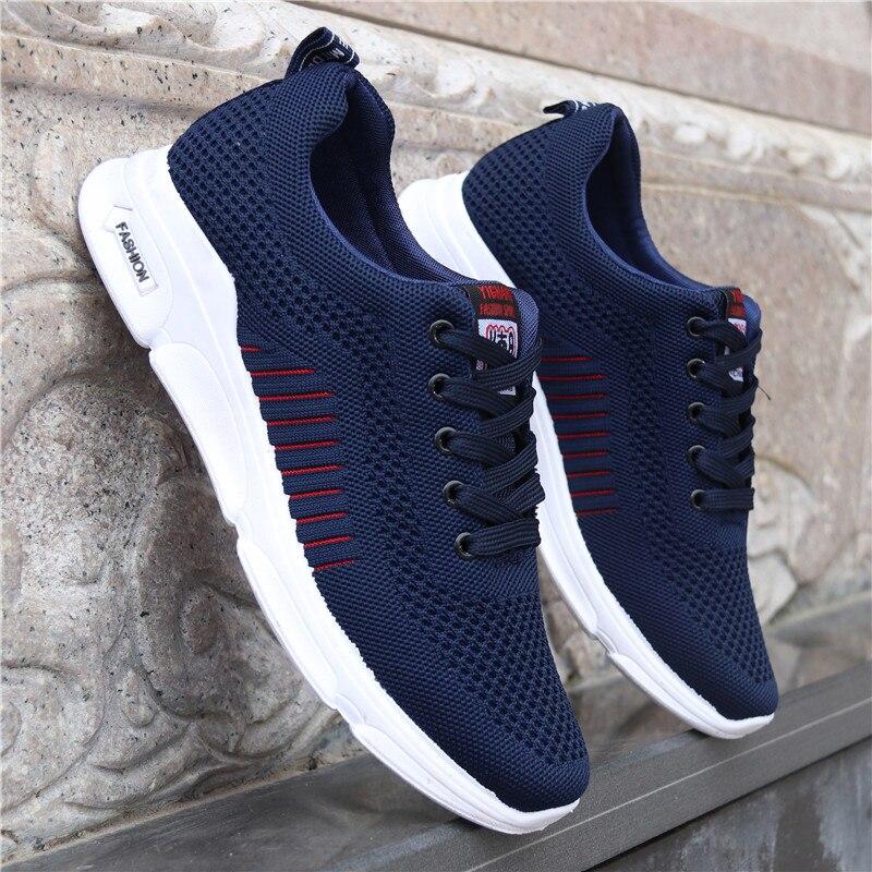 New Mesh Men Shoes Casual Men Sneakers Mens Fashion Shoe For Male Footwear Man Breathable Spring Autumn Lace up Feminino Zapatos zapatillas de moda 2019 hombre