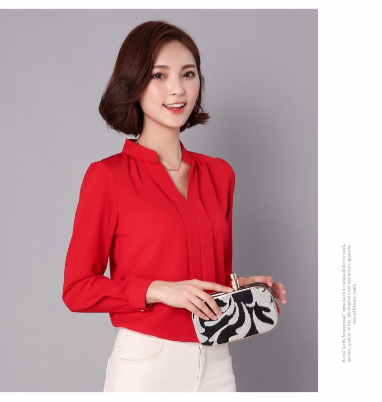 HTB1HK0VLpXXXXcTXVXXq6xXFXXXA - Long Sleeve Elegant Ladies Office Shirts Fashion Casual Slim Women