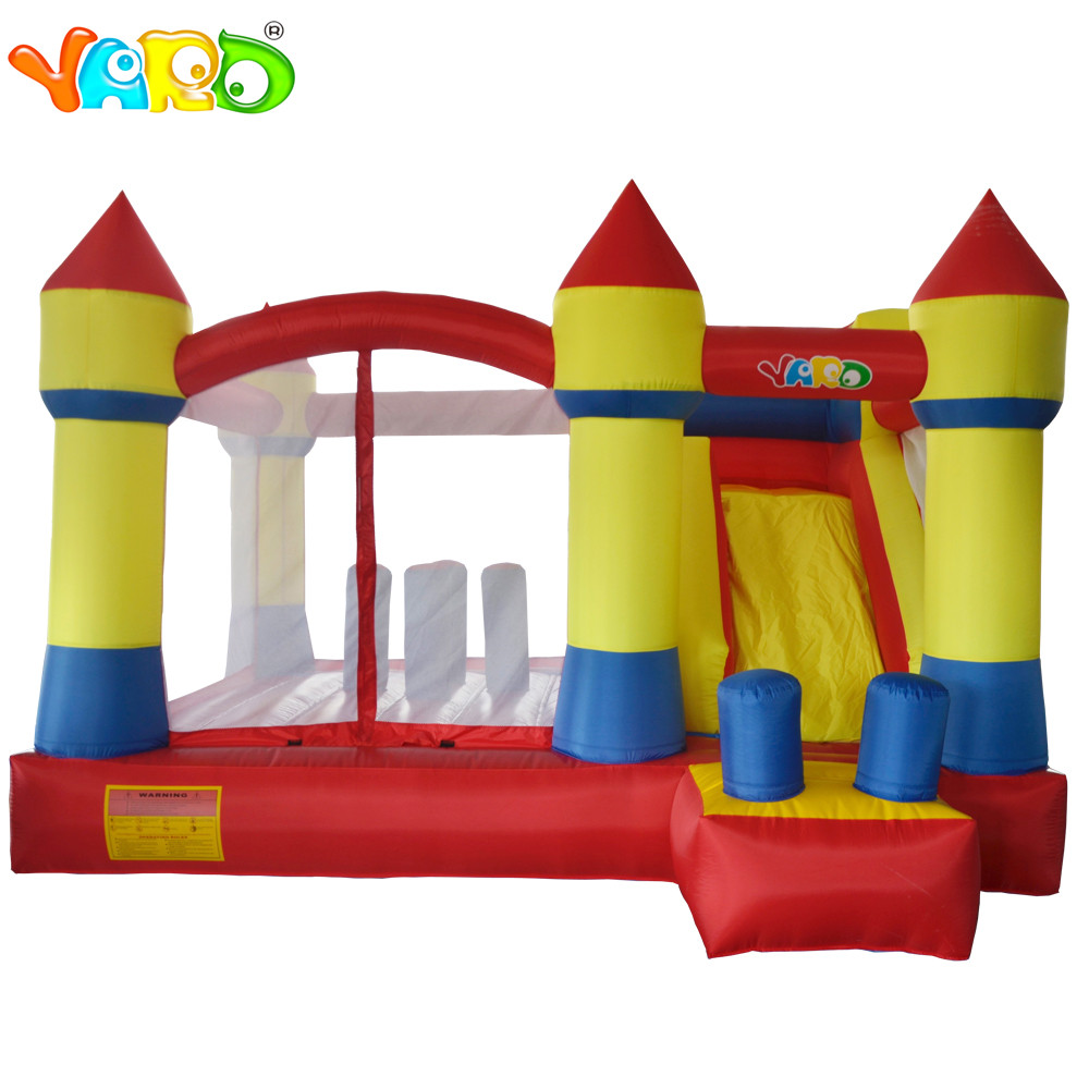YARD Games toys Trampoline Inflatable for kids Slide smoothly inflatable Bouncer Jumping Bouncy Castle Inflatable Bounce House yard residential inflatable bounce house combo slide bouncy with ball pool for kids amusement