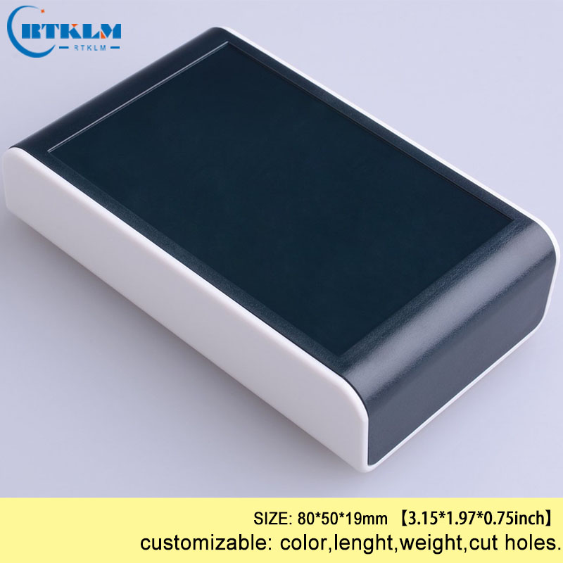DIY Plastic Project Box Abs Plastic Enclosure Electronic Junction Box Custom Instrument Case Small Desktop Shell 80*50*19mm
