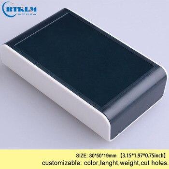 Junction box ABS plastic box diy electronic project box small detector housing pcb case diy speakers enclosure 80*50*19mm 168 54 120 200 mm w h l diy electronics aluminum enclosure pcb box matel housing