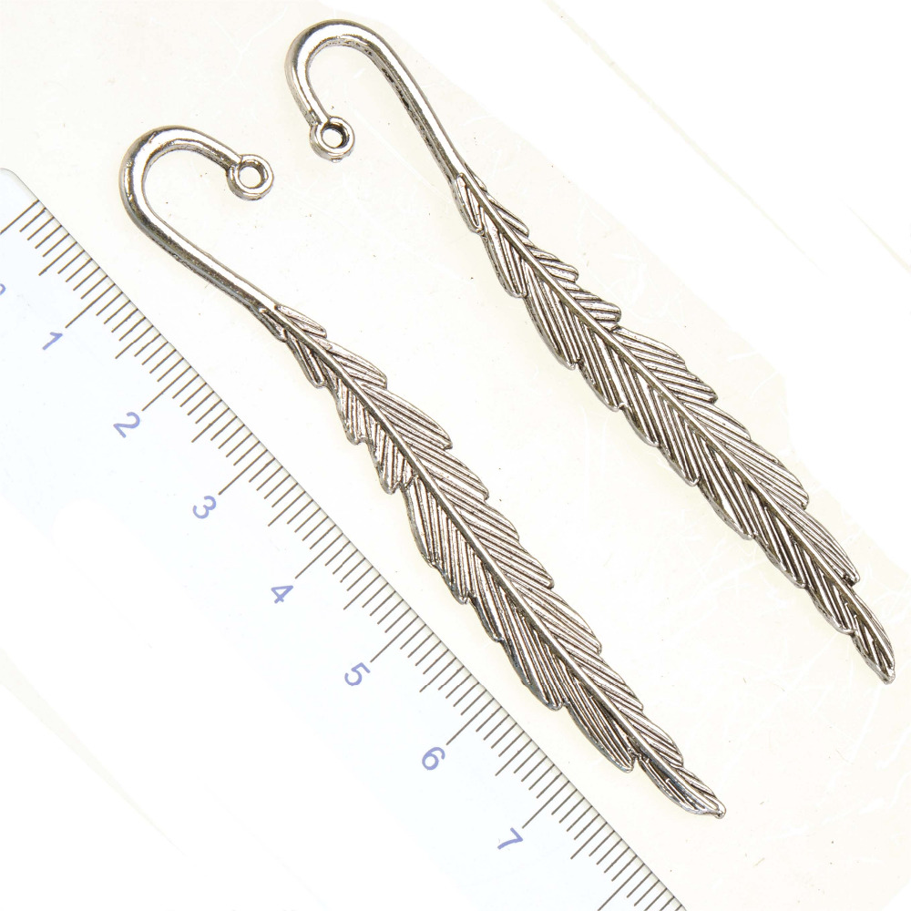 Office Suppliers School Stationery Feather Bookmarks For Books DIY Long Flat Vintage Silver Fashion Jewelry Findings 80mm 10pcsOffice Suppliers School Stationery Feather Bookmarks For Books DIY Long Flat Vintage Silver Fashion Jewelry Findings 80mm 10pcs