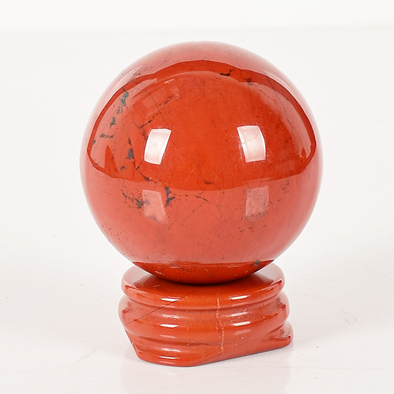 1 pieces 40mm Diameter Natural Red Jasper ball with a red jasper base Gemstone Sphere Crystal Balls Feng shui Home Decor1 pieces 40mm Diameter Natural Red Jasper ball with a red jasper base Gemstone Sphere Crystal Balls Feng shui Home Decor