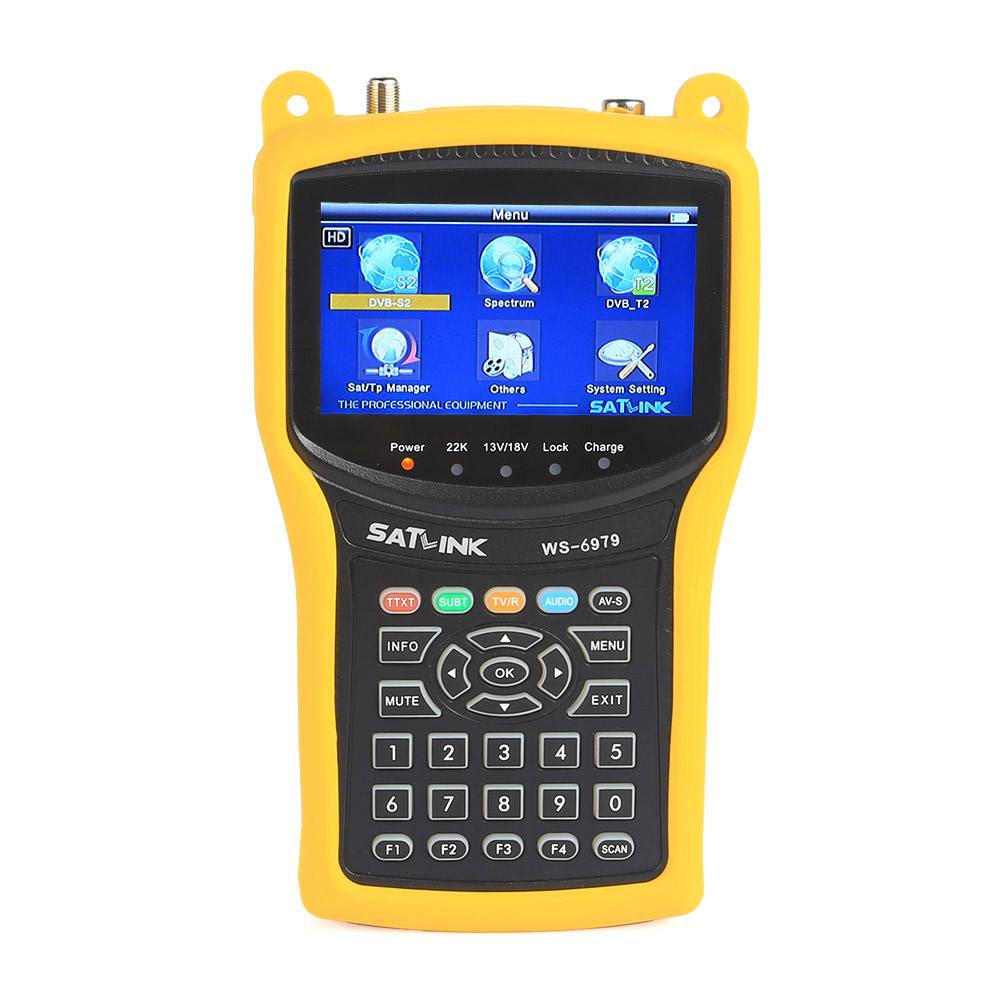 Satlink WS-6979SE Satellite Finder Meter 4.3''inch Display Screen DVB-S/S2  DVB-T2 MPEG4 HD COMBO WS6979 with Big Black Bag satlink ws 6906 dvb s fta digital satellite signal meter satellite finder supports diseqc 1 0 1 2 qpsk