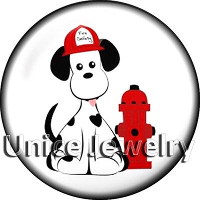 Ad1304644 12/18/20 мм кнопки на Талисманы для браслет Цепочки и ожерелья Лидер продаж DIY Выводы Стекло кнопки собака символ дизайн