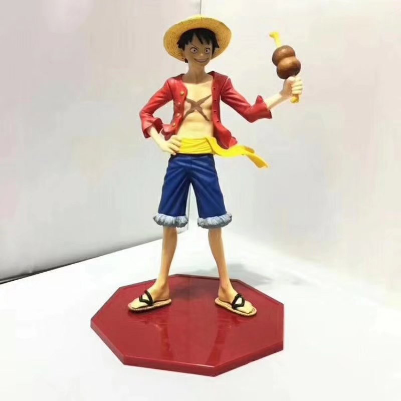 Action Figure Ham Ver One Piece Luffy 20th Anniversary Ver Monkey D Luffy Pvc Figure Toy Brinquedos Anime 22cm Goods Of Every Description Are Available