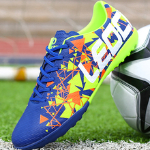 Leoci Men Boy Kids Soccer Cleats TF Football Shoes Teenager Training Sneakers Indoor Voetbal Unisex Chuteira Futebol 33-45