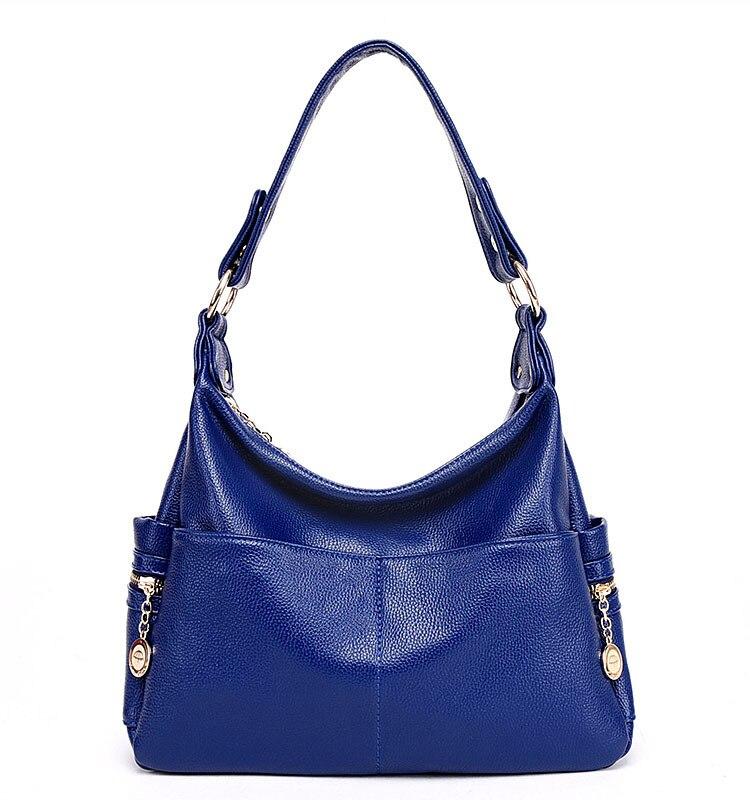 Women\'S Genuine Leather Handbags All-Match Shoulder Crossbody Bags Messenger Bag Big Size Hobos Women Bags
