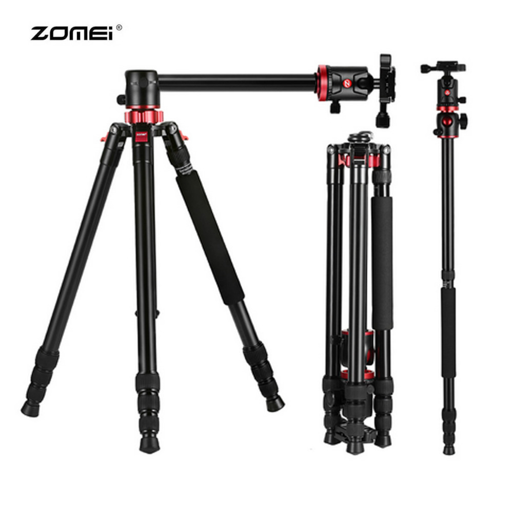 Zomei M8 Camera Tripod Monopod Portable Magnesium Aluminium Professional Tripod Stand For Nikon Canon DSLR Camera With Ball Head aluminium alloy professional camera tripod flexible dslr video monopod for photography with head suitable for 65mm bowl size
