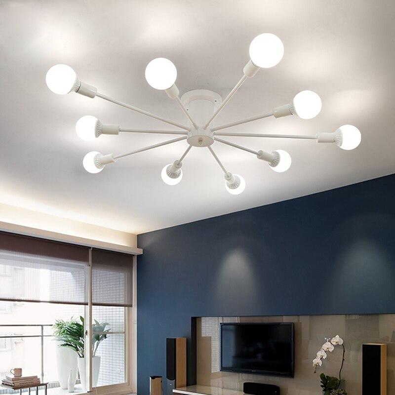 Moderne Simple LED plafonniers nordique salon lumière Restaurant lampes chambre plafond éclairage fer artisanat plafonniers