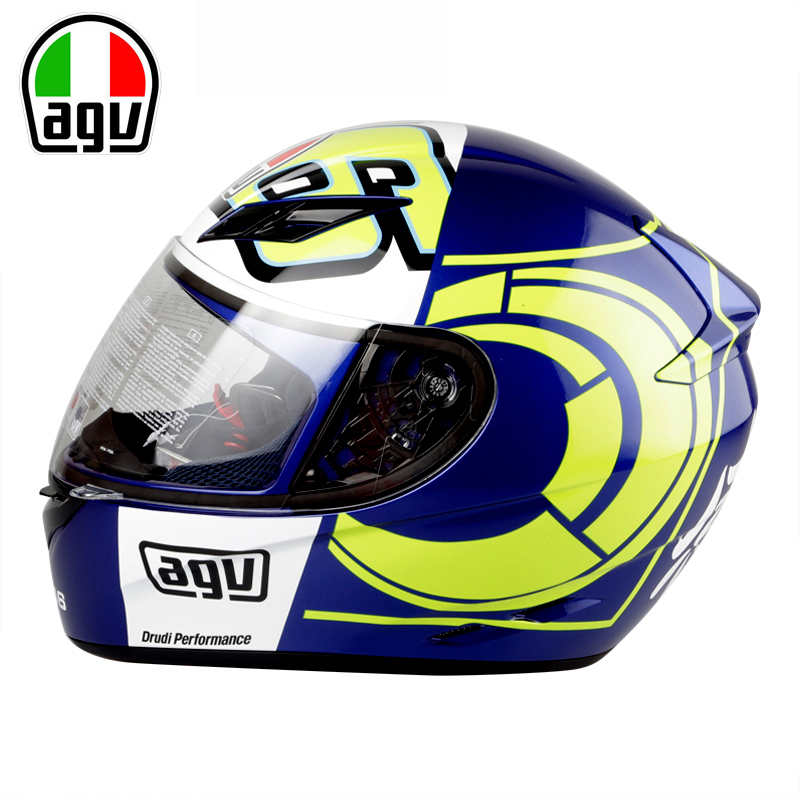 Genuine AGV K3 Motorcycle Helmet Full Face Helmet MOTO GP Racing Valentino Rossi Helmet Replica Genuine VR46 Helmets Winter Test 2017 valentino rossi vr46 for yamaha racing blue motogp mens felpa zip up sweater
