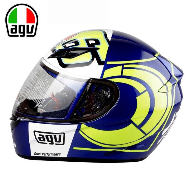 caschi integrali moto  Genuino AGV K3 Del Motociclo Casco Integrale Viso Casco MOTO GP ...