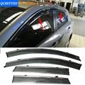 Carro Stylingg Toldos Abrigos 4 pçs/lote Viseiras Da Janela Para Mazda 3 Hatchback/Sedan 2007-2016 Sol Chuva Escudo adesivos Covers