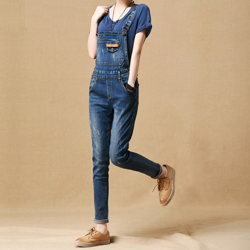 Women's Autumn and Winter Plus Velvet Denim Bib Pants Female Skinny Pants Denim Overalls Water Washed Slim Jeans  2016 hot sale denim overalls women new arrival autumn winter denim bib pants female jeans rompers harajuku woman jeans lx6107