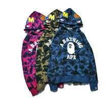 Men suprem burtoner sweatsuit yeezy Sweatshirt shark Tracksuit hip hop gothic punk skater Shirts hooded Jacket Coat Harajuku 2xl