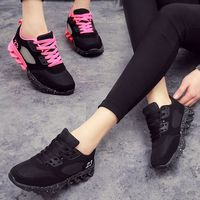 Trainers Shoes Woman Sports Running Shoe For Women New Arder Breathable Black Ladyes Net Surface Running