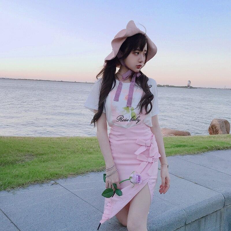 Princess sweet lolita skirts Summer antique soft girl mercerizing high grade gray purple pink bow fashion
