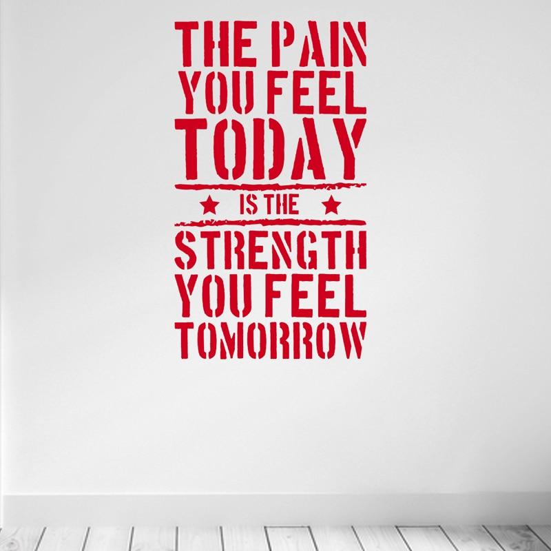 Bu gün hiss etdiyiniz ağrı ... Ev İdman Zalı Motivasiya - Ev dekoru - Fotoqrafiya 2