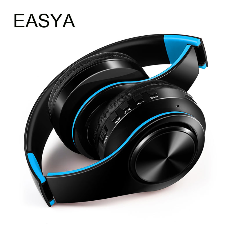 EASYA Wireless Bluetooth Headphones With Mic headphone Stereo Foldable Headset Support TF Card Earphone For Phone 4pieces/lot high quality csr8635 chipset stereo headphone with mic speaker headset foldable bluetooth 4 1 headphones