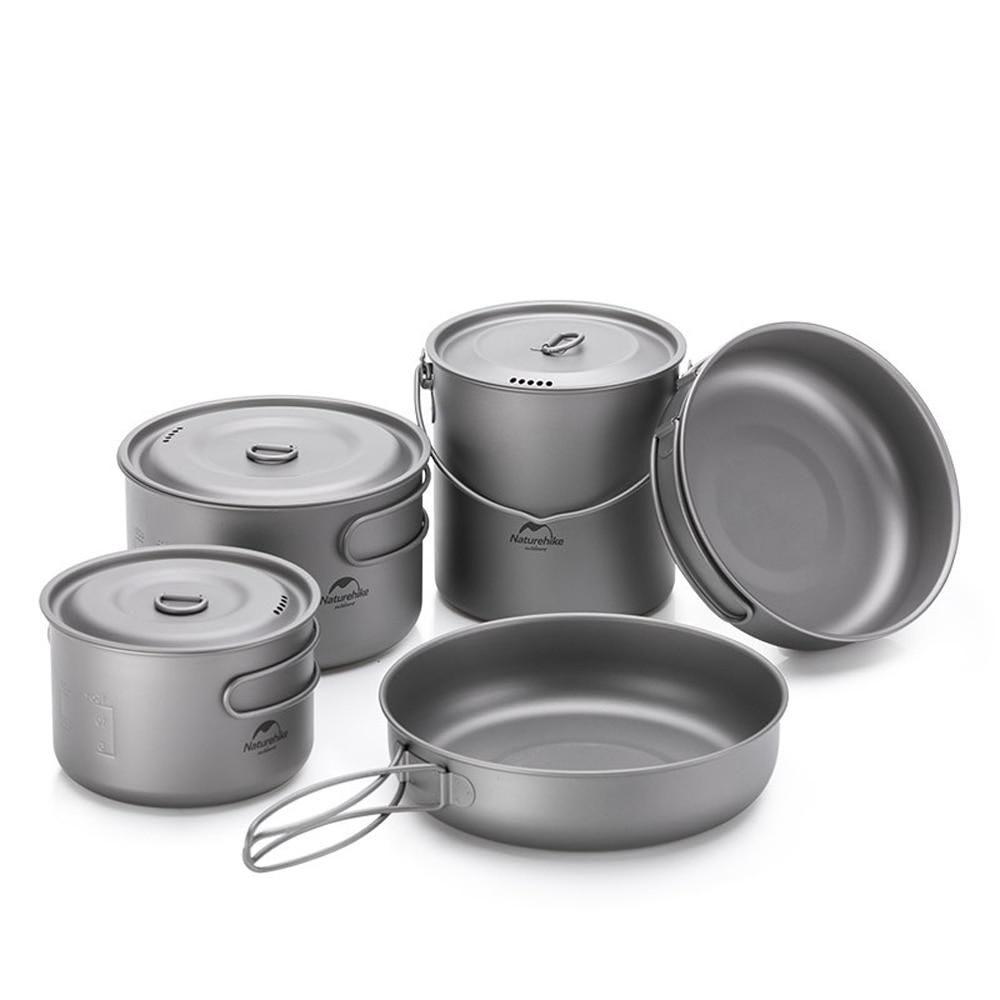 500ml Pot Camping Cookware Water Cup Mug Foldable Handle Portable Outdoor Picnic