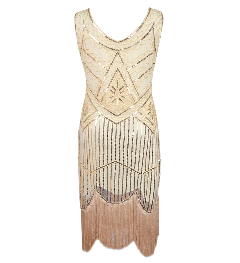 ... Women Party Dress Robe Femme 1920s Great Gatsby Flapper Sequin Fringe  Embroidery Midi Dress Summer Art ... f021ef494a9e