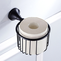 Toilet Kitchen Roll Paper Holder Stainless Steel Repeatedly Washable Stick Hooks Rack Bathroom Storage Accessories