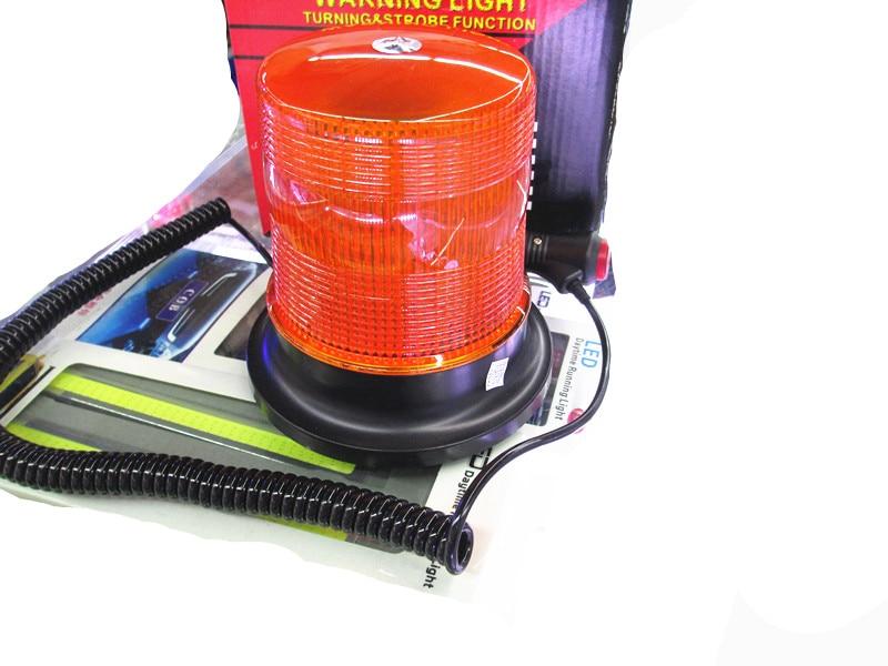 Magnetic Car Emergency Amber Orange Flash Rotating Beacon Strobe Light Lamp 12V / 24V