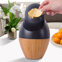 Hot S Rubbish Bin Creative Car Mini Desktop Trash Can Wooden Garbage Dust Case Holder Rolling Cover For Office Home 8 9