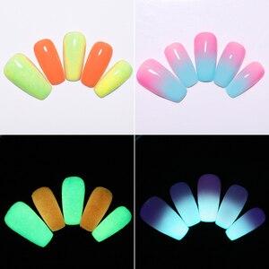 Image 5 - NICOLE TAGEBUCH Ultrafeinen Leucht Dip Nail Powder Set Phosphor Tauch Glitter Glow in Dark Glänzende Fluoreszierende Natürliche Trockene Chrom