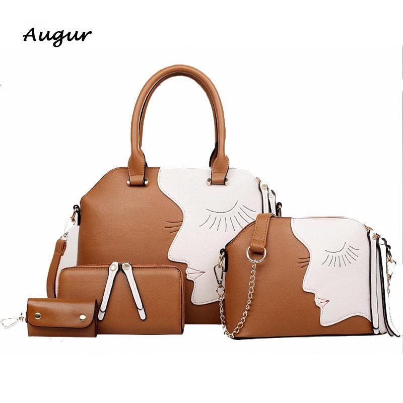 New Fashion Leather PU Large Capacity Women font b Handbag b font Classic High Quality Messenger