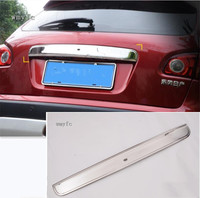 FOR NISSAN QASHQAI STAINLESS STEEL TAILGATE BOOT REAR DOOR GRAB HANDLE TRIM COVER 2008 2013 with Intelligent Key