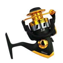 Yumoshi Spinning Fishing Reel 13BB + 1 Bearing Balls BK1000-7000 Series Metal Coil  Water Sea Carp Wheel
