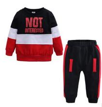 Children Baby Suit for 1 2 3 4 Years Old  2019 Spring Autumn Fashion Cartoon Toddler Baby Set Color Matching Baby Costume FZ9461