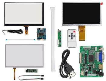 7''1024*600 LCD with Touchscreen Digitizer Display Screen Monitor Remote Driver Control Board 2AV HDMI VGA фото