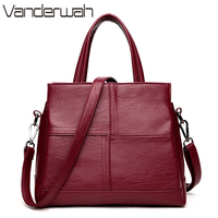VANDERWAH Stitching Luxury Handbags Women Bags Designer Female Tote Top Handle Casual Big Bag Crossbody Bags