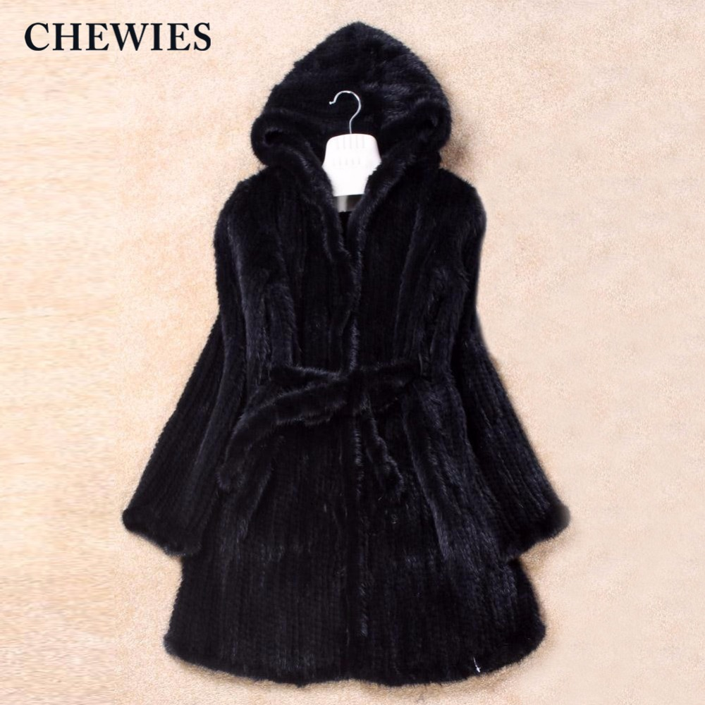 Nouvelle Femmes Black Dame Arrivée 28 De coffee Réel 2018 Vison Véritable Manteau Avec Plus Capot Fourrure La Chewies Veste 6xl Taille L Outwear 2 UxqdwU