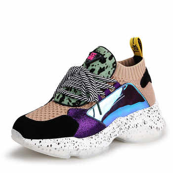 2020 Autumn New casual women shoes lacing Female sports shoes fashion white sneakers women shoes Mixed colors Comfortable Soft