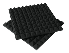 [ Fly Eagle ] Black Soundproofing Acoustic Foam Sound Treatment Absorption Wedge 12Pcs 50cm X 5cm