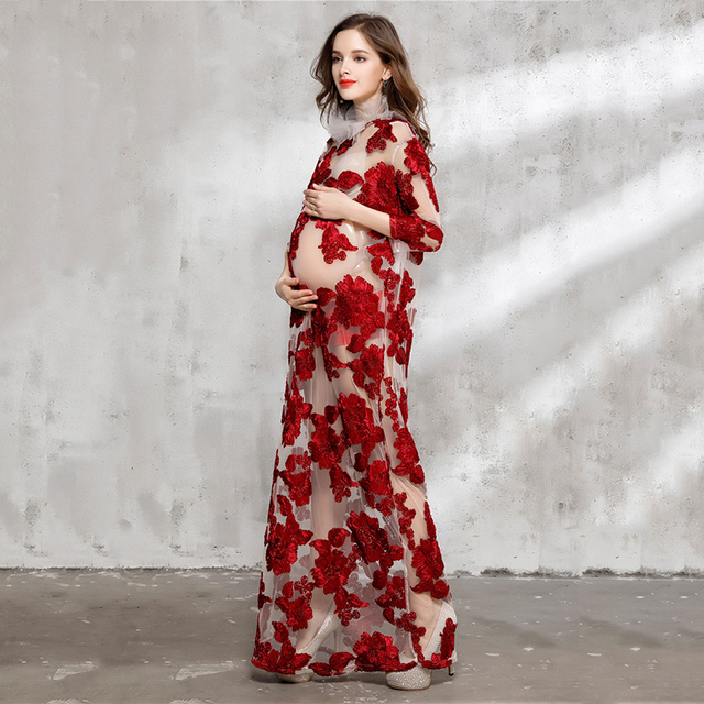 Flower Maternity Dresses