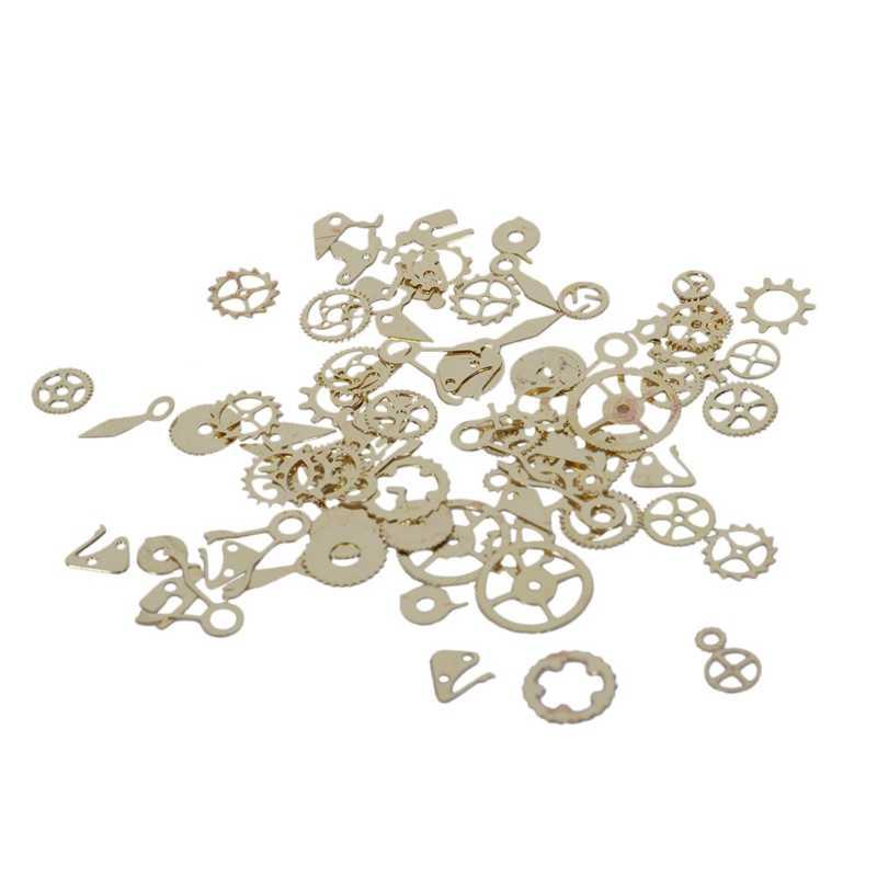 Стимпанк Ретро-колесо шестерни форма часы части стиль металлический ломтик панк дизайн ногтей маникюр Дизайн 3D Diy деко