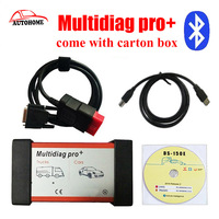 2pcs Lot New Products For 2015 R3 Design Bluetooth Multidiag Pro For Cars Trucks Come With