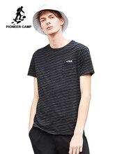 פיוניר מחנה חדש קיץ סגנון קצר שרוול גברים מותג בגדי אופנה פסים חולצה גברים באיכות t חולצות ADT802080