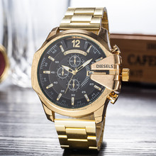 Gold Watch For Man Big Dial Mega Chief Chronograph Stainless