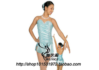 skating dress adult competition ice skating dress free shipping spandex figure dress skating E321