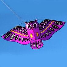 43x20 в красочный мультфильм сова Летающий воздушный змей с воздушным змеем линия легкий Летающий воздушный змей 50 м линия игрушки для детей vlieger открытый инструмент