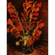 Vase avec Rouge Glaïeuls de Vincent Van Gogh art peintures à l'huile Toile reproduction main-peint(China)