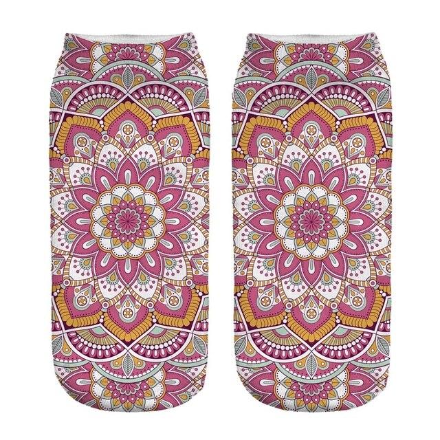 Women's Mandala Print Socks 4