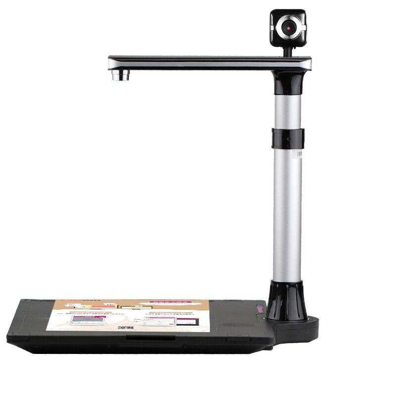 Scanner Documento Libro W1100T Pro, 1000 dpi HD, Catturare Formato A3, A4, A5, A6, a7, con Smart OCR per Finestre, Software Inglese